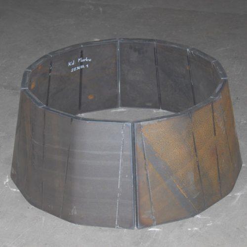 Hardox 500 Einlauftrichter, 30 mm