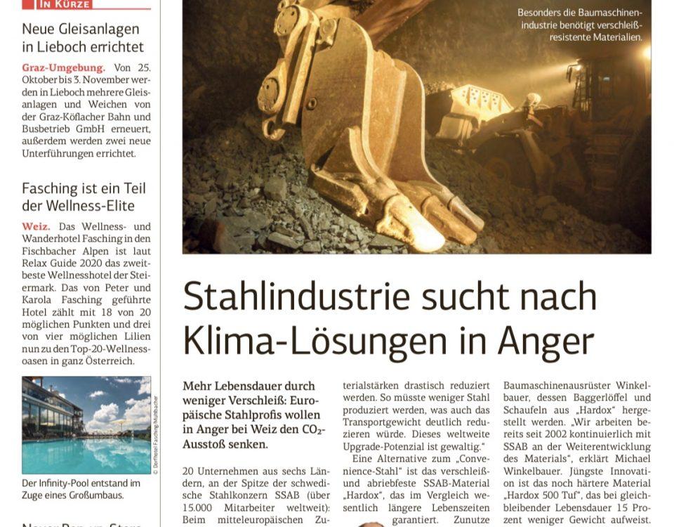 Stahlindustrie sucht nach Klima-Lösung in Anger, Winkelbauer GmbH