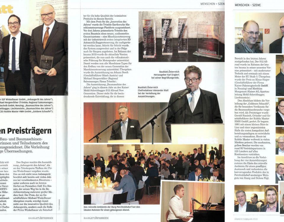 Winkelbauer GmbH, Baublatt Österreich, Branche feierte mit den Preisträgern