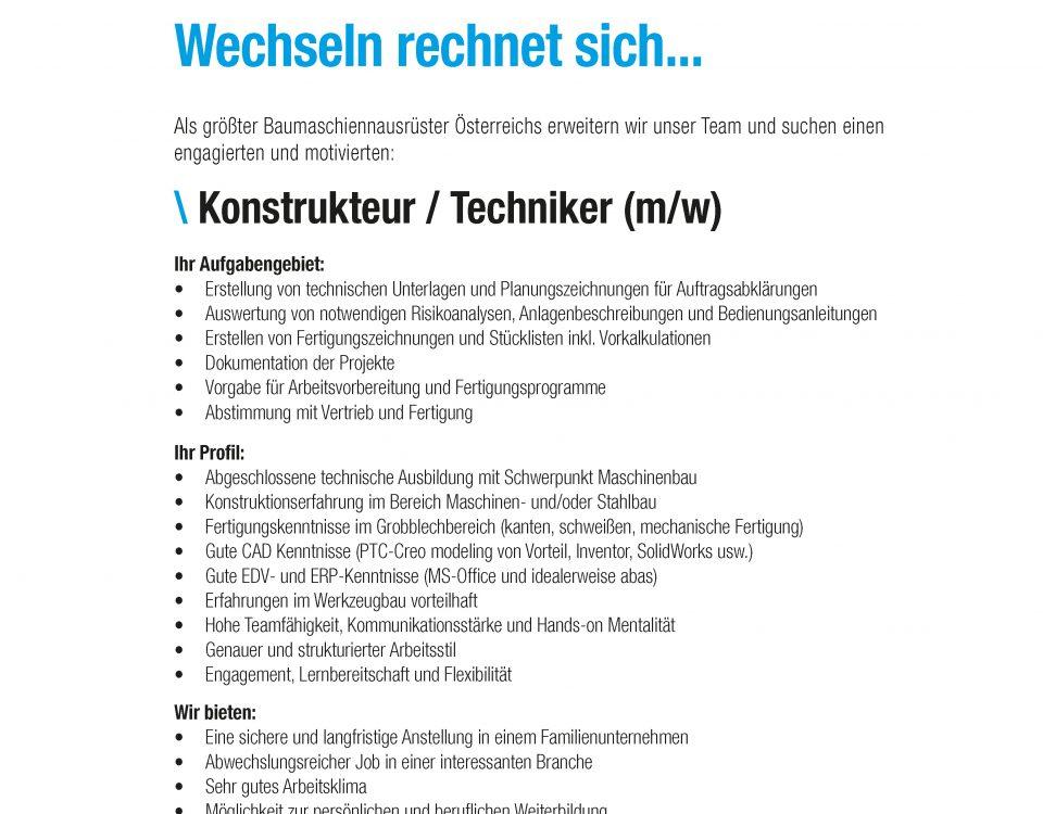 Winkelbauer GmbH, Baumaschinenausrüstung, Anbaugeräte, Anger, Konstrukteur, Techniker, Stellenangebot, Stellenausschreibung