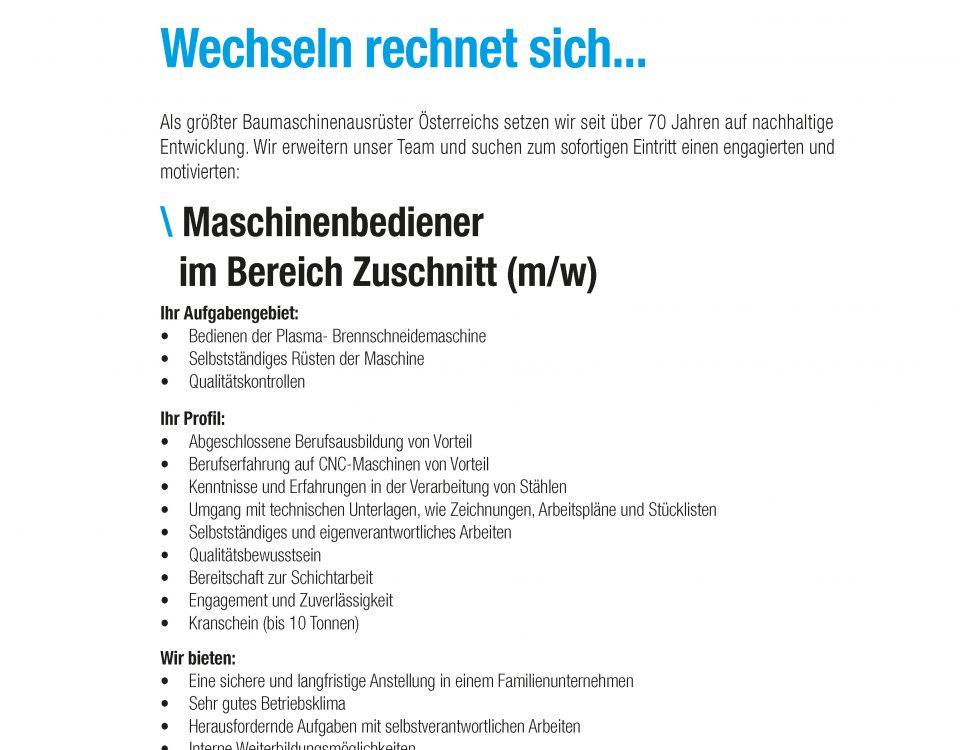 Winkelbauer GmbH, Baumaschinenausrüstung, Anbaugeräte, Anger, Maschinenbediener, Stellenanbgebot, Stellenbeschreibung