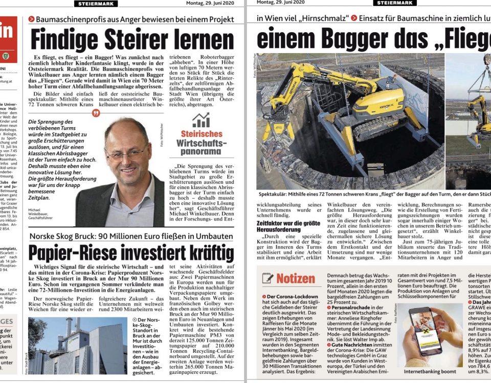 Winkelbauer GmbH, Baumaschinenausrüstung, Anbaugeräte, Kronen Zeitung