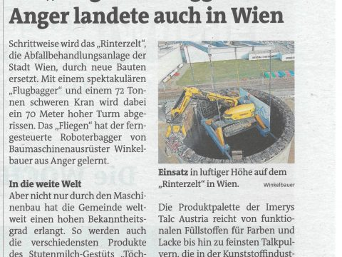 Winkelbauer fliegender Bagger Baumaschinenausrüstung