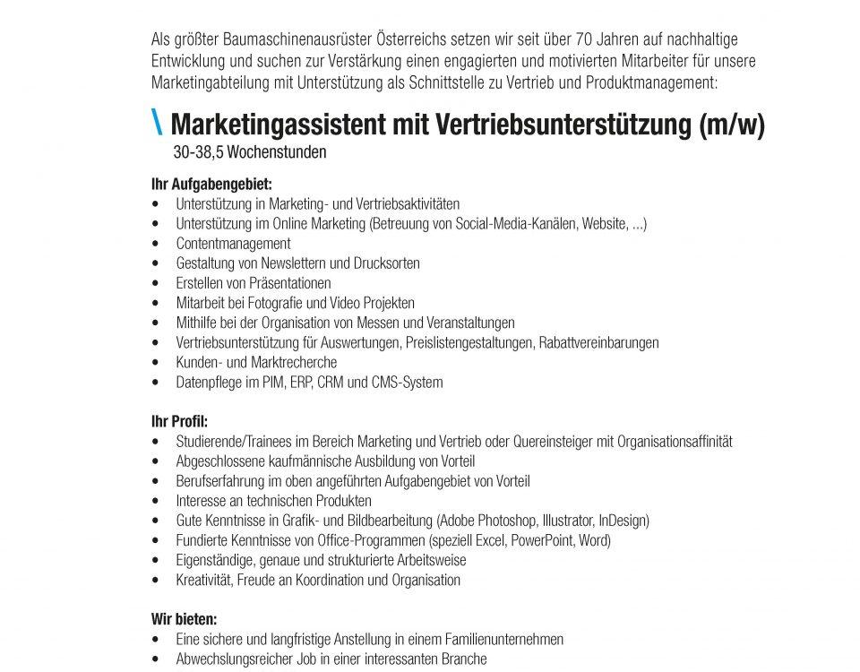 Winkelbauer GmbH, Baumaschinenausrüstung, Anbaugeräte, Marketingassistent, Vertriebsunterstütung, Stellenausschreibung, Stelleninserat