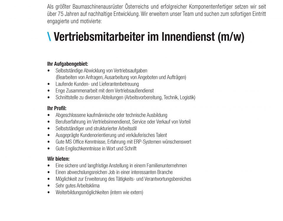 Winkelbauer GmbH, Baumaschinenausrüstung, Anbaugeräte, Wear Parts, Komponentenfertigung, Ideenschmiede, Stellenausschreibung, Stelleninserat, Vertriebsmitarbeiter, Vertriebsmitarbeiter im Innendienst, Anger