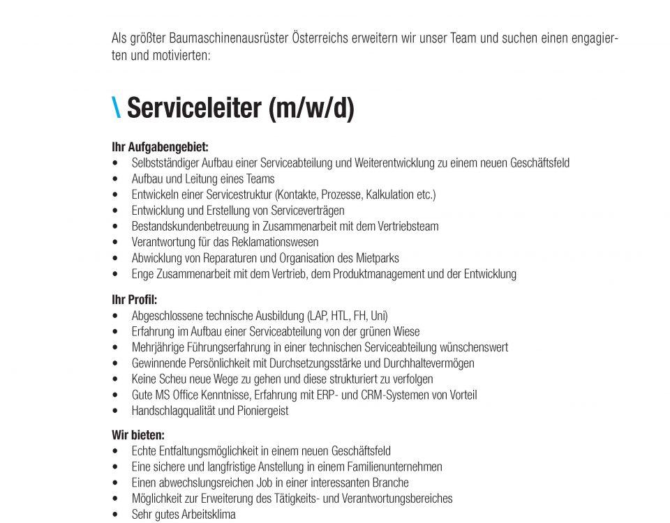 Winkelbauer GmbH, Anbaugeräte, Baumaschinenausrüstung, Komponentenfertigung, Wear Parts, Ideenschmiede, Anger, Job, Stelle, Stelleninserat, Serviceleiter