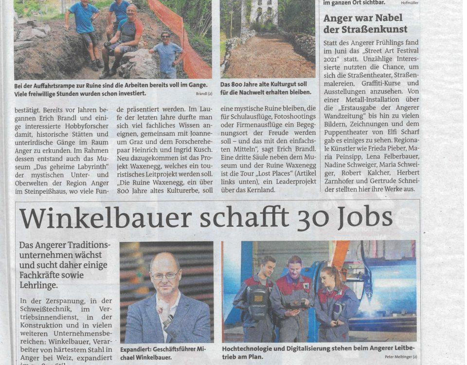 Woche - Winkelbauer schafft 30 Jobs